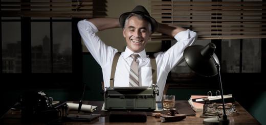 journalist at desk